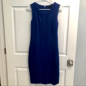 Banana Republic electric blue sheath dress